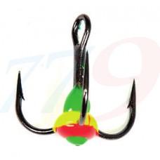 Trīsžubura āķis ar krāsainu pili Lucky John N8 - 11
