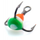 Trīsžubura āķis ar krāsainu pili Lucky John N8 - 10