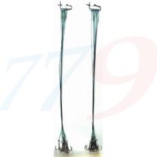 Pavadiņa ar āķi 1x7 divžuburis №2 30cm 10kg zaļa